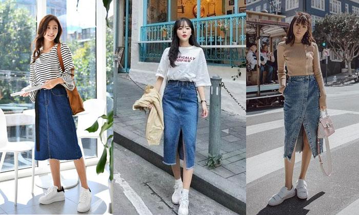 Chân váy Jean - Trẻ trung và cá tính